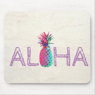 Adorable Aloha Hawaiian Pineapple Mouse Pad