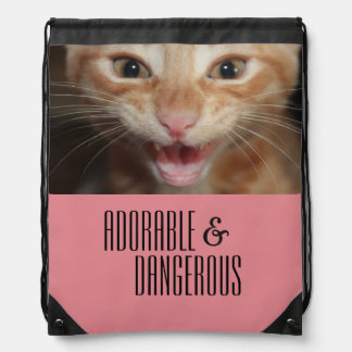 Adorable and dangerous backpack