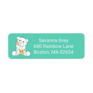 Adorable Baby Bear and Giraffe Address