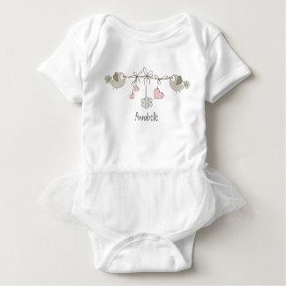 Adorable Baby Birds   Personalized Baby Bodysuit