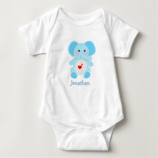 Adorable Baby Blue Elephant baby shower Baby Bodysuit