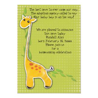 adorable baby giraffe boy adoption announcement