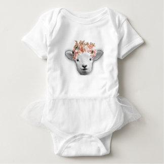 Adorable Baby Sheep Baby Bodysuit