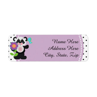 Adorable Baby Shower Custom Panda Bear Return Address Label