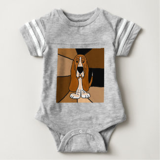 Adorable Basset Hound Dog Art Abstract Baby Bodysuit