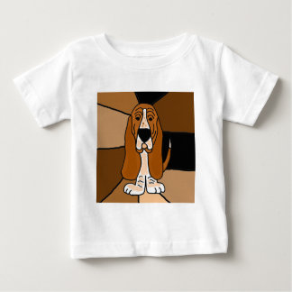 Adorable Basset Hound Dog Art Abstract Baby T-Shirt