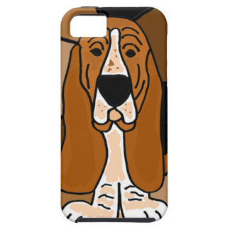 Adorable Basset Hound Dog Art Abstract Case For The iPhone 5