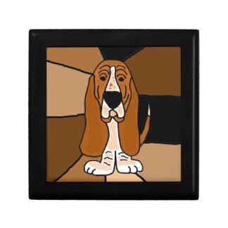 Adorable Basset Hound Dog Art Abstract Gift Box