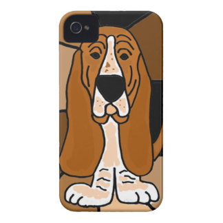 Adorable Basset Hound Dog Art Abstract iPhone 4 Case-Mate Case