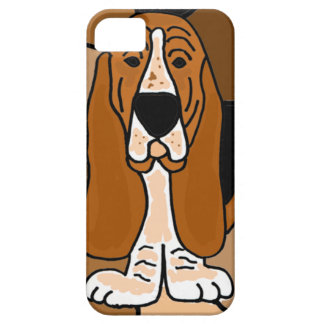 Adorable Basset Hound Dog Art Abstract iPhone 5 Case