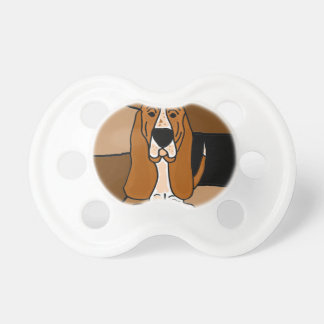 Adorable Basset Hound Dog Art Abstract Pacifier