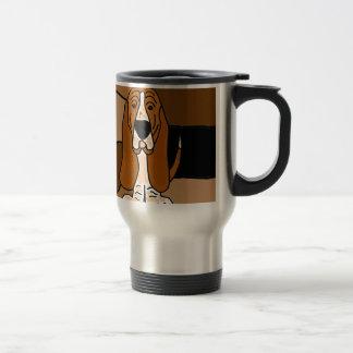 Adorable Basset Hound Dog Art Abstract Travel Mug