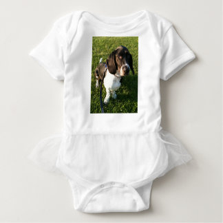 Adorable Basset Hound Snoopy Baby Bodysuit