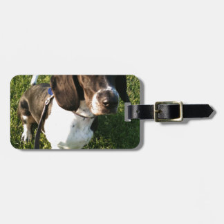 Adorable Basset Hound Snoopy Luggage Tag