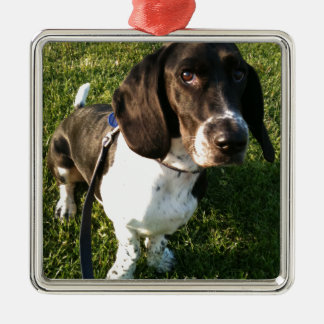 Adorable Basset Hound Snoopy Metal Ornament