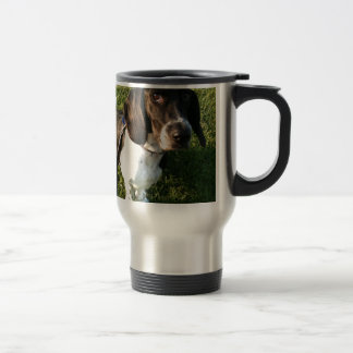 Adorable Basset Hound Snoopy Travel Mug
