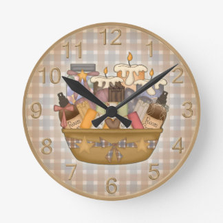 Adorable Bath Time Wall Clock