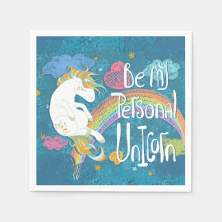 Adorable Be My Personal Unicorn | Napkin