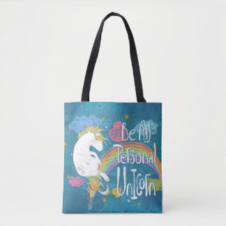 Adorable Be My Personal Unicorn Tote Bag