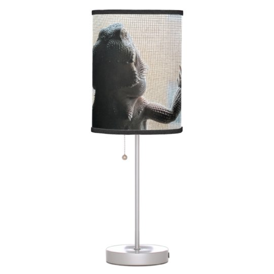 Adorable Bearded Dragon Picture Table Lamp