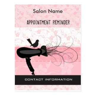 Adorable! Beauty Salon Appointment Reminder Postcard