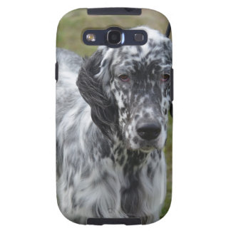 Adorable Black and White English Setter Samsung Galaxy S3 Cover