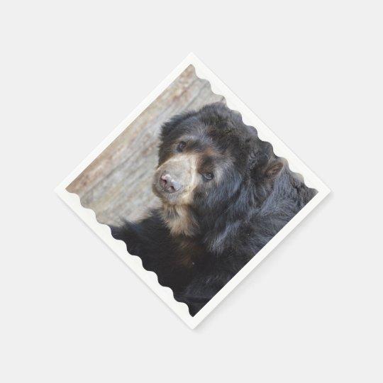 Adorable Black Bear Paper Napkin
