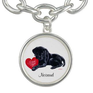 Adorable Black Labrador Puppy Charm Bracelets