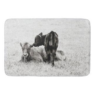 Adorable Black & White Baby Calf Shower Mat