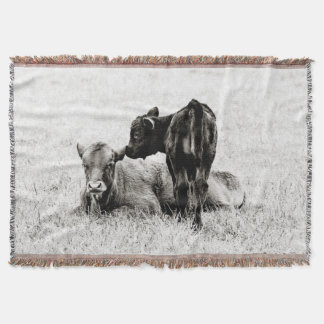 Adorable Black & White Cow Throw Blanket
