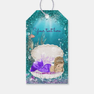 Adorable Blonde Mermaid Gift Tags