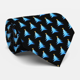 Adorable Blue Christmas Trees Tie