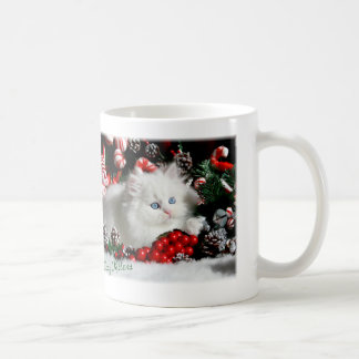 Adorable Blue Eyed White Persian Coffe Mug