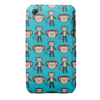 Adorable Blue Monkey iPhone 4 Case