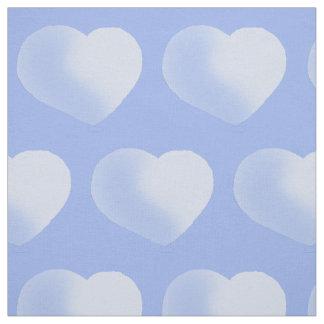 Adorable Blue Polka Hearts Baby Boy Nursery Fabric