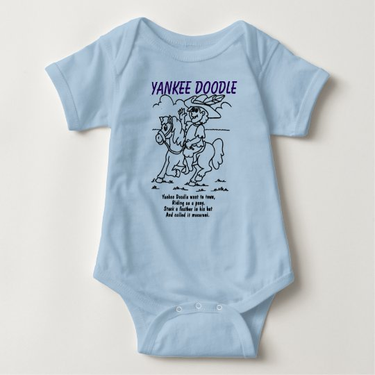 Adorable Blue Yankee Doodle shirt for your baby!