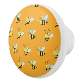 Adorable Bumble Bee Pattern Ceramic Knob
