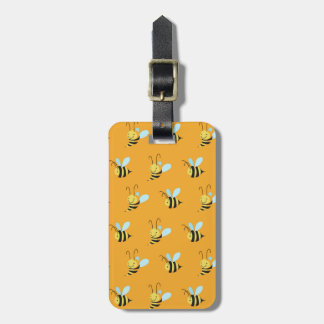 Adorable Bumble Bee Pattern Luggage Tag