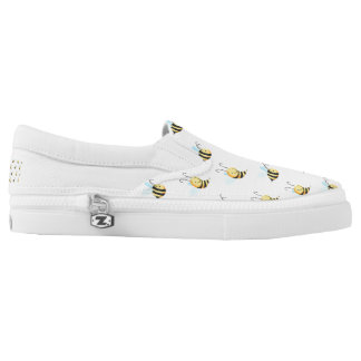 Adorable Bumble Bee Pattern Slip-On Sneakers