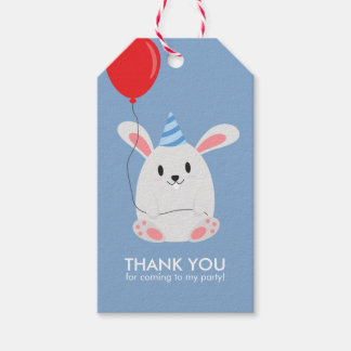 Adorable Bunny Rabbit Kids Birthday Party Pack Of Gift Tags