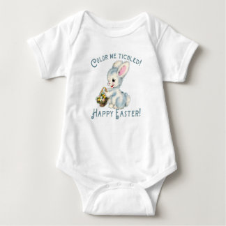 Adorable Bunny Rabbit with Easter Basket Baby Bodysuit