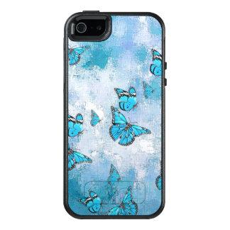 Adorable Butterflies, aqua OtterBox iPhone 5/5s/SE Case