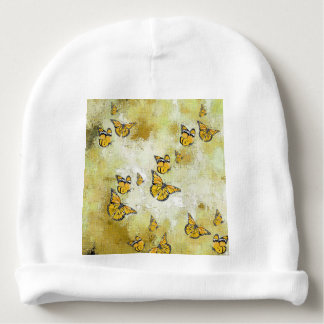 Adorable Butterflies, yellow Baby Beanie