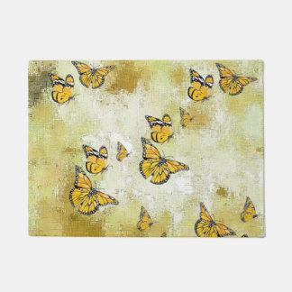 Adorable Butterflies, yellow Doormat