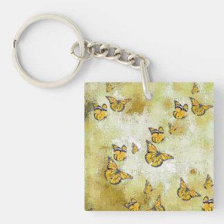 Adorable Butterflies, yellow Keychain