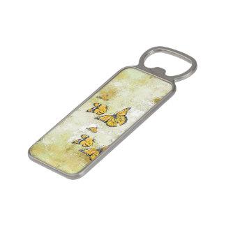 Adorable Butterflies, yellow Magnetic Bottle Opener