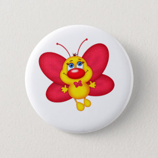 adorable butterfly 2 inch round button