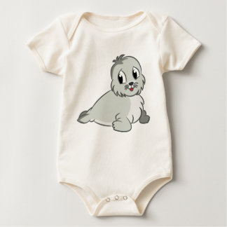 Adorable Cartoon Baby Seal Baby Bodysuit