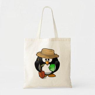 Adorable Cartoon Penguin Farmer Canvas Bags