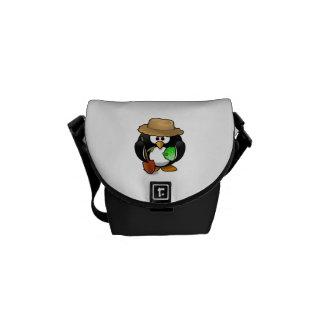 Adorable Cartoon Penguin Farmer Courier Bags